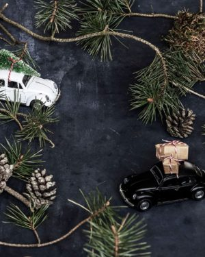 Dekoration X-MAS Car Svart