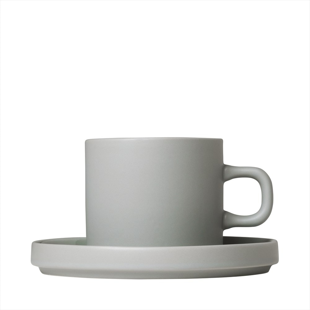 MIO,Set med 2 kaffemuggar & fat, 4 pcs.  Mirage Grey