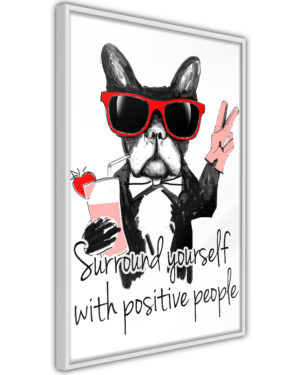 Affisch - Surround Yourself With Positive People [Poster]-1